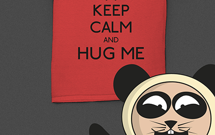 T-shirt - Keep Calm and Hug Me